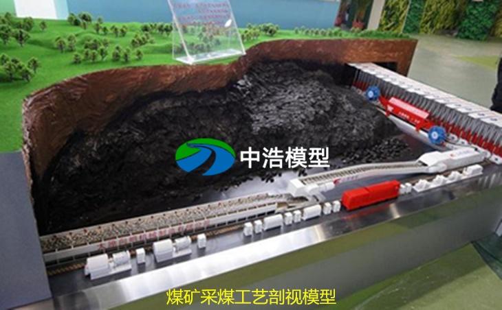 煤矿采煤工艺剖视模型