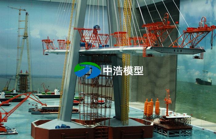 斜拉桥塔结构模型