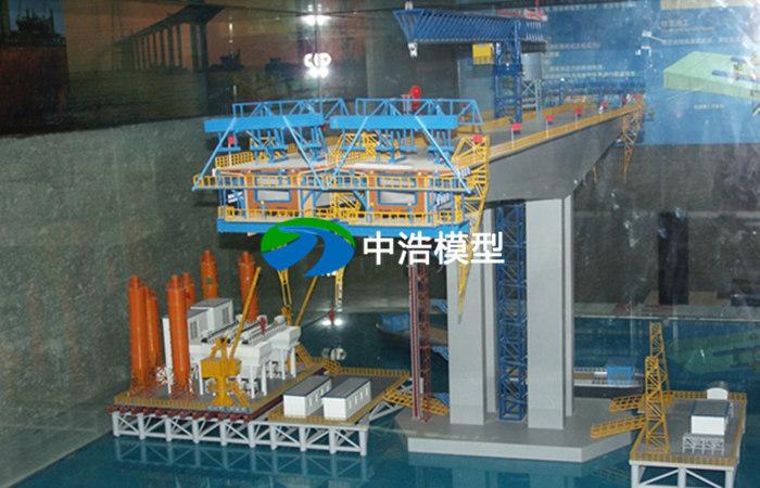 悬臂桥梁挂篮施工工艺模型